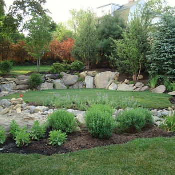 Multi-level Boulder Retaining Walls